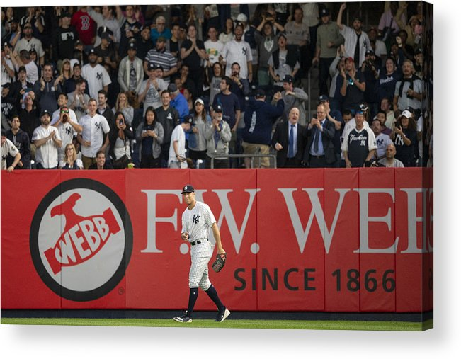 People Acrylic Print featuring the photograph Aaron Judge by Billie Weiss/Boston Red Sox
