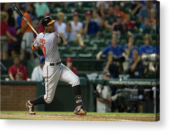 American League Baseball Acrylic Print featuring the photograph Adam Jones by Cooper Neill