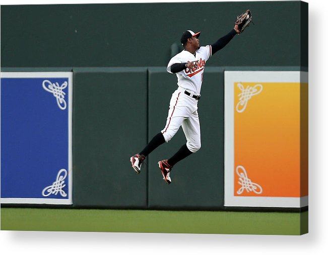 Second Inning Acrylic Print featuring the photograph Adam Jones by Patrick Smith