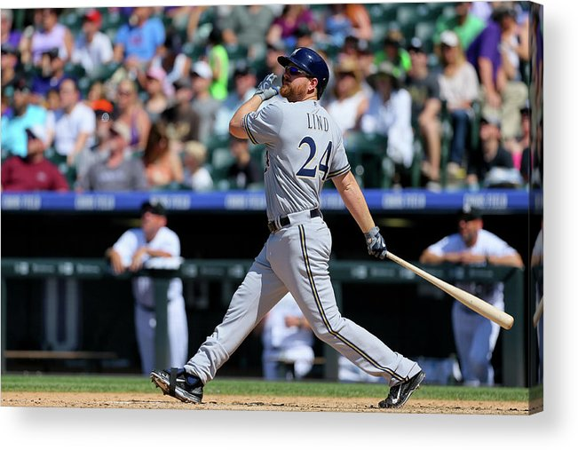 People Acrylic Print featuring the photograph Adam Lind by Justin Edmonds