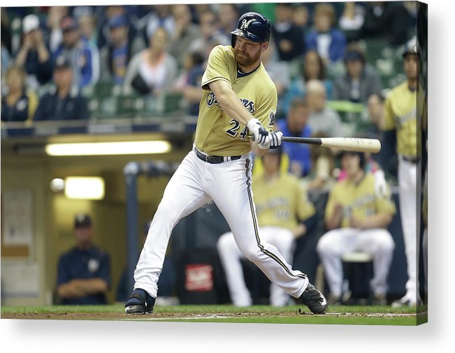 Second Inning Acrylic Print featuring the photograph Adam Lind by Mike Mcginnis
