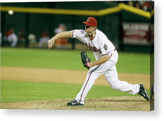 Ninth Inning Acrylic Print featuring the photograph Addison Reed by Ralph Freso