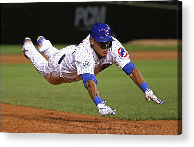 People Acrylic Print featuring the photograph Addison Russell by Jonathan Daniel