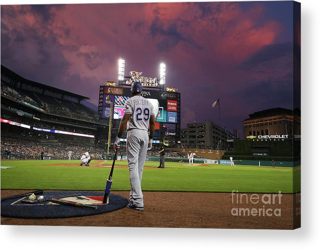 Adrian Beltre Acrylic Print featuring the photograph Adrian Beltre by Gregory Shamus