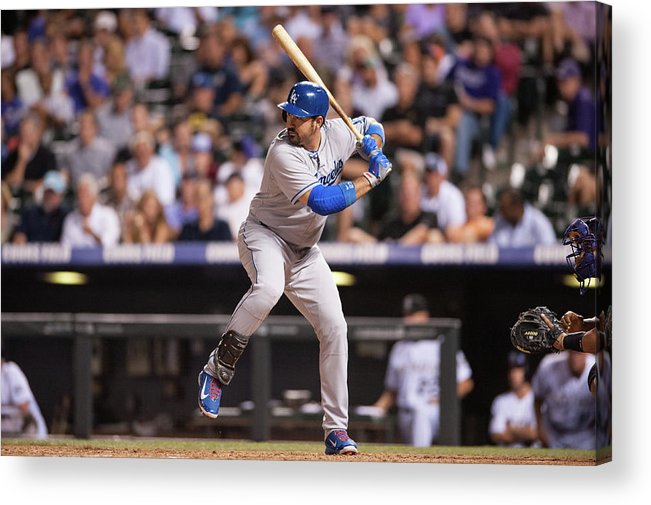 Los Angeles Dodgers Acrylic Print featuring the photograph Adrian Gonzalez by Dustin Bradford