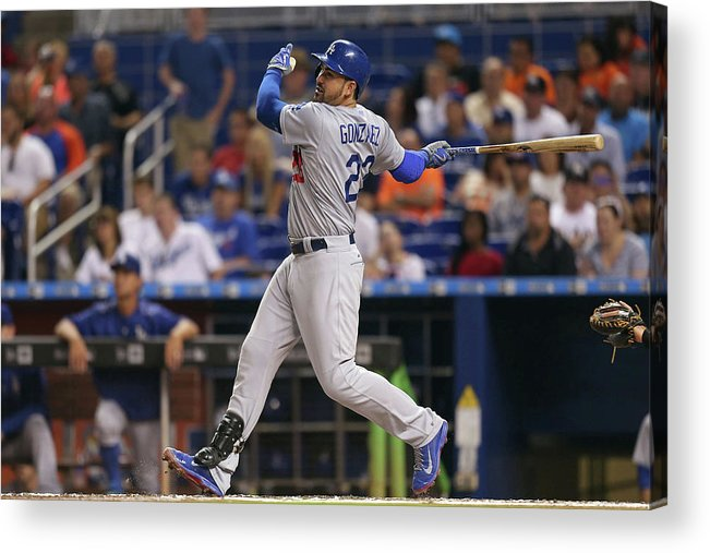 People Acrylic Print featuring the photograph Adrian Gonzalez by Rob Foldy
