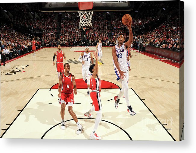 Nba Pro Basketball Acrylic Print featuring the photograph Al Horford by Cameron Browne