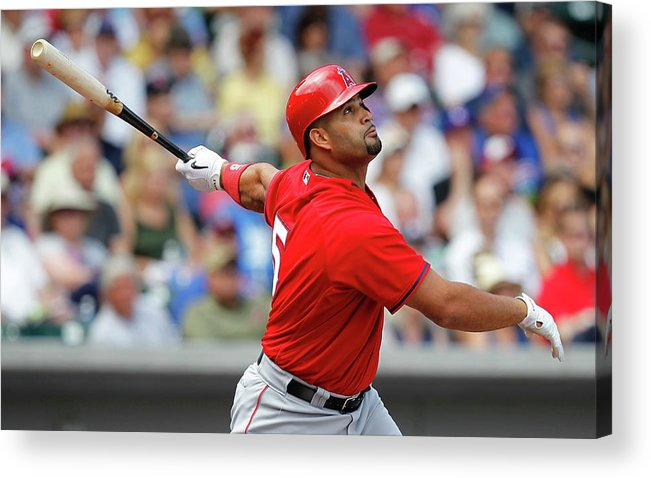 American League Baseball Acrylic Print featuring the photograph Albert Pujols by Sarah Crabill
