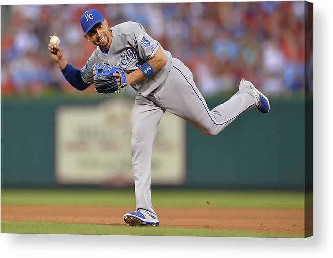 People Acrylic Print featuring the photograph Alcides Escobar by Michael Thomas