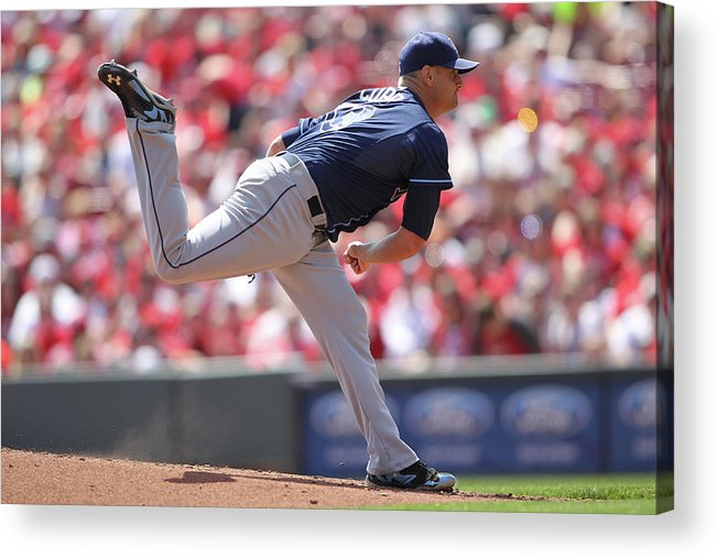Great American Ball Park Acrylic Print featuring the photograph Alex Cobb by John Grieshop