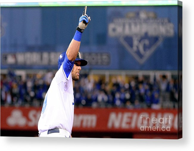 Playoffs Acrylic Print featuring the photograph Alex Gordon by Ron Vesely