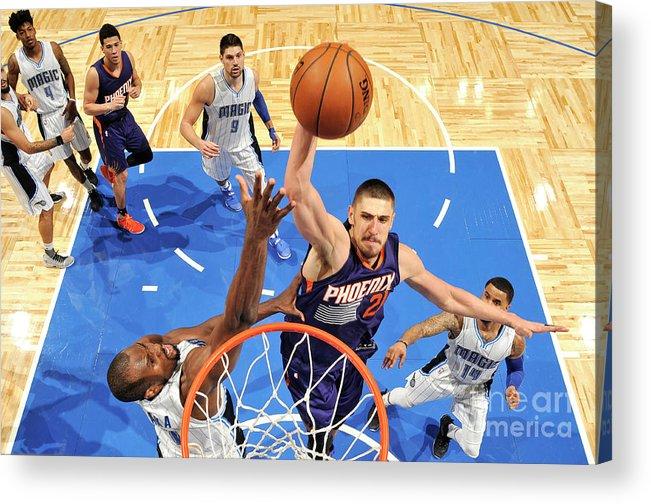 Nba Pro Basketball Acrylic Print featuring the photograph Alex Len by Fernando Medina