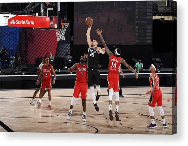 Nba Pro Basketball Acrylic Print featuring the photograph Alex Len by Joe Murphy