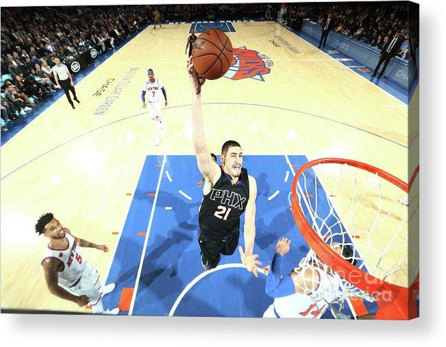 Nba Pro Basketball Acrylic Print featuring the photograph Alex Len by Nathaniel S. Butler