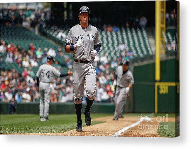People Acrylic Print featuring the photograph Alex Rodriguez and Garrett Jones by Otto Greule Jr