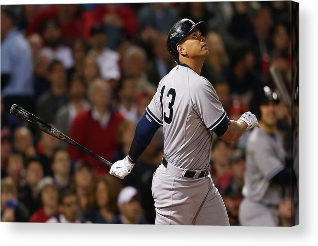 American League Baseball Acrylic Print featuring the photograph Alex Rodriguez by Jim Rogash