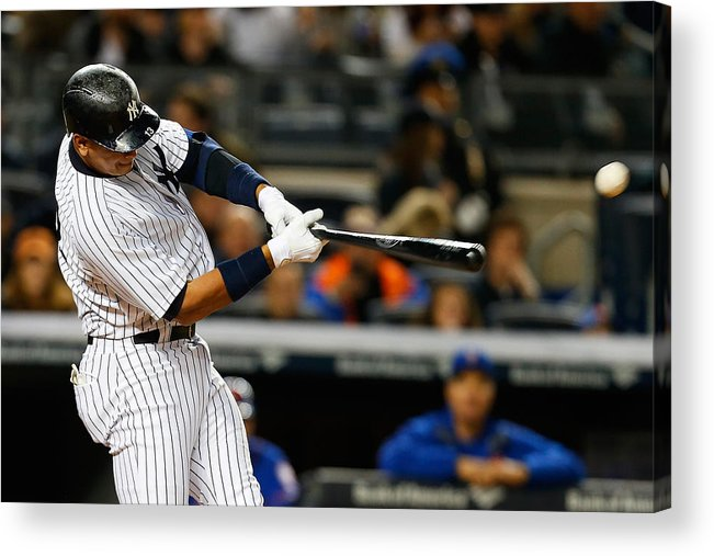 Three Quarter Length Acrylic Print featuring the photograph Alex Rodriguez by Mike Stobe