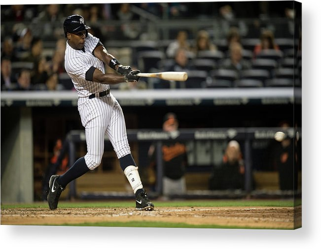 Alfonso Soriano Acrylic Print featuring the photograph Alfonso Soriano by Rob Tringali