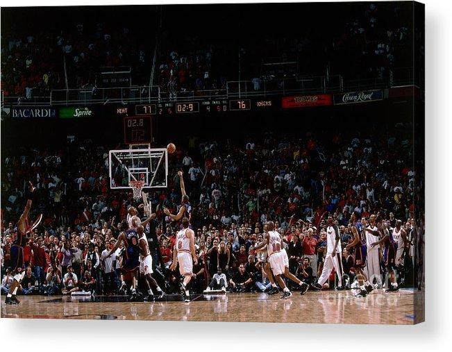 Playoffs Acrylic Print featuring the photograph Allan Houston by Fernando Medina