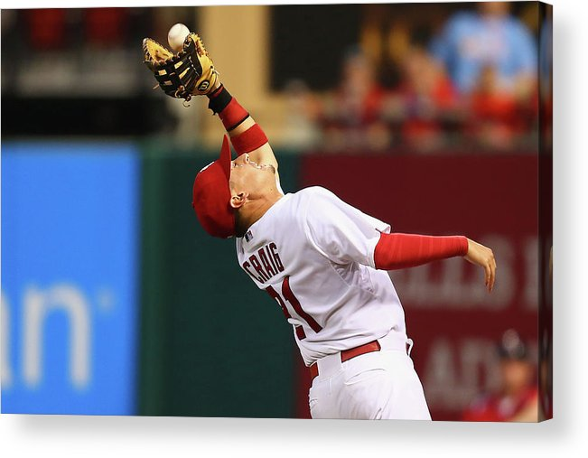 St. Louis Cardinals Acrylic Print featuring the photograph Allen Craig by Dilip Vishwanat