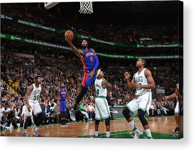 Nba Pro Basketball Acrylic Print featuring the photograph Andre Drummond by Brian Babineau