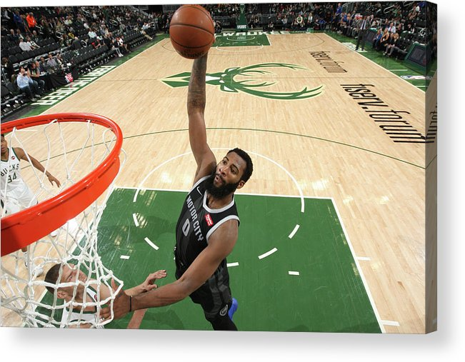 Playoffs Acrylic Print featuring the photograph Andre Drummond by Gary Dineen