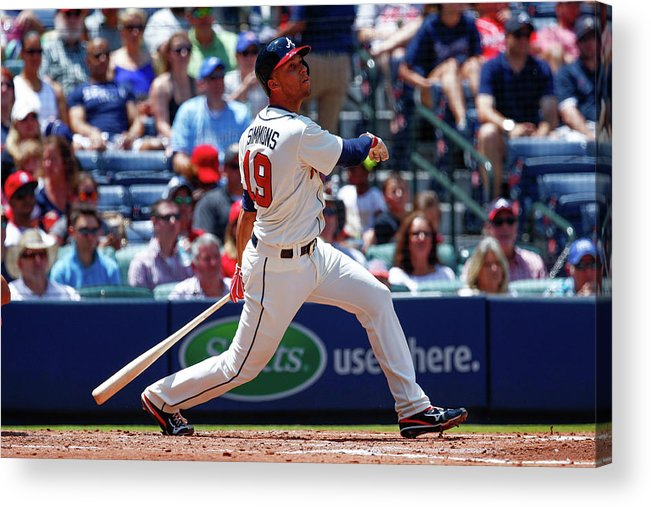 Atlanta Acrylic Print featuring the photograph Andrelton Simmons by Kevin Liles