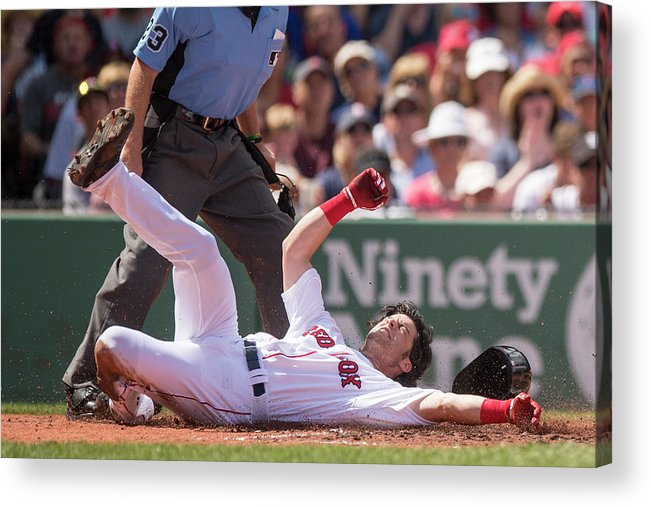 Second Inning Acrylic Print featuring the photograph Andrew Benintendi by Billie Weiss/boston Red Sox