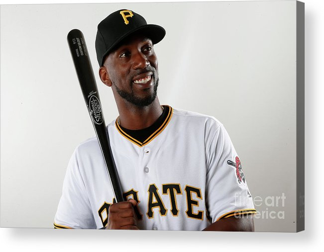 Media Day Acrylic Print featuring the photograph Andrew Mccutchen by Brian Blanco