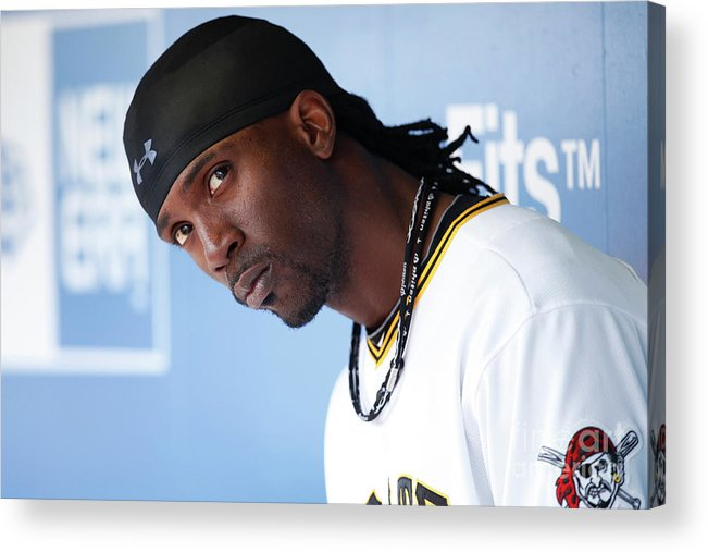 Pnc Park Acrylic Print featuring the photograph Andrew Mccutchen by Joe Robbins