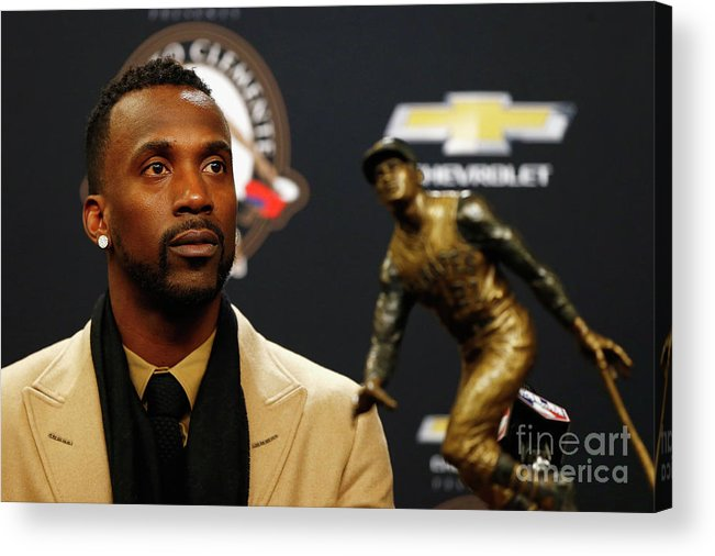 People Acrylic Print featuring the photograph Andrew Mccutchen by Mike Stobe