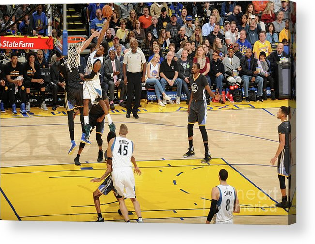 Nba Pro Basketball Acrylic Print featuring the photograph Andrew Wiggins by Andrew D. Bernstein