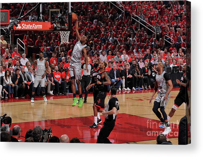 Playoffs Acrylic Print featuring the photograph Andrew Wiggins by Bill Baptist