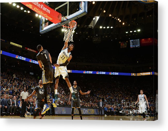 Nba Pro Basketball Acrylic Print featuring the photograph Andrew Wiggins by Noah Graham
