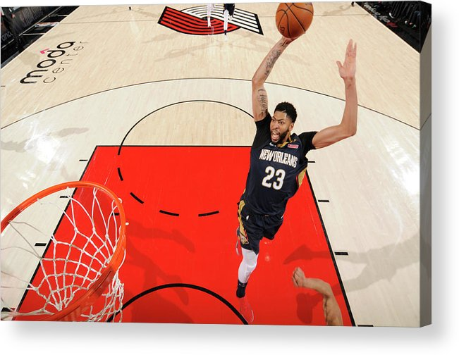 Playoffs Acrylic Print featuring the photograph Anthony Davis by Cameron Browne