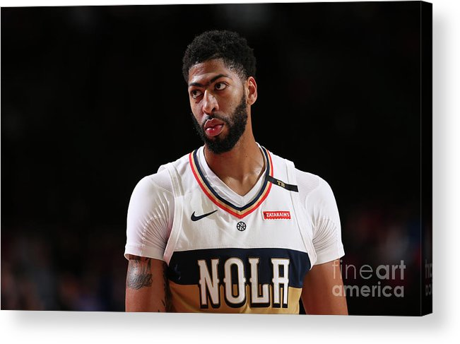 Nba Pro Basketball Acrylic Print featuring the photograph Anthony Davis by Sam Forencich