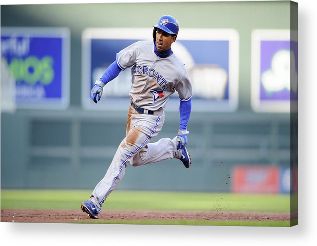 Game Two Acrylic Print featuring the photograph Anthony Gose by Hannah Foslien