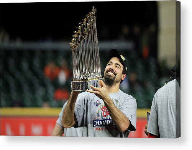 American League Baseball Acrylic Print featuring the photograph Anthony Rendon by Mike Ehrmann