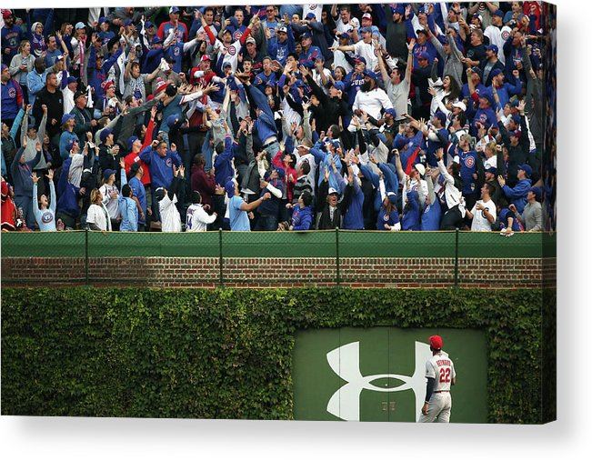 St. Louis Cardinals Acrylic Print featuring the photograph Anthony Rizzo And Jason Heyward by Jonathan Daniel