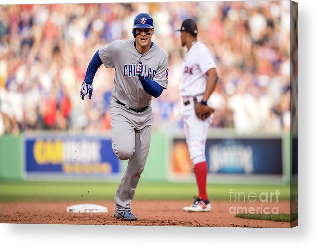 People Acrylic Print featuring the photograph Anthony Rizzo by Billie Weiss/boston Red Sox