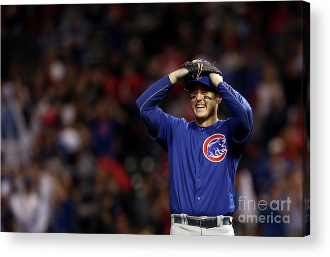 Three Quarter Length Acrylic Print featuring the photograph Anthony Rizzo by Elsa