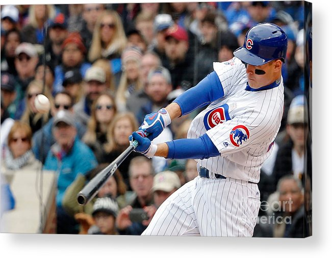 Three Quarter Length Acrylic Print featuring the photograph Anthony Rizzo by Jon Durr