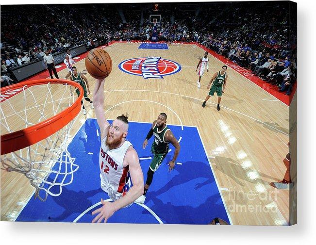 Nba Pro Basketball Acrylic Print featuring the photograph Aron Baynes by Chris Schwegler