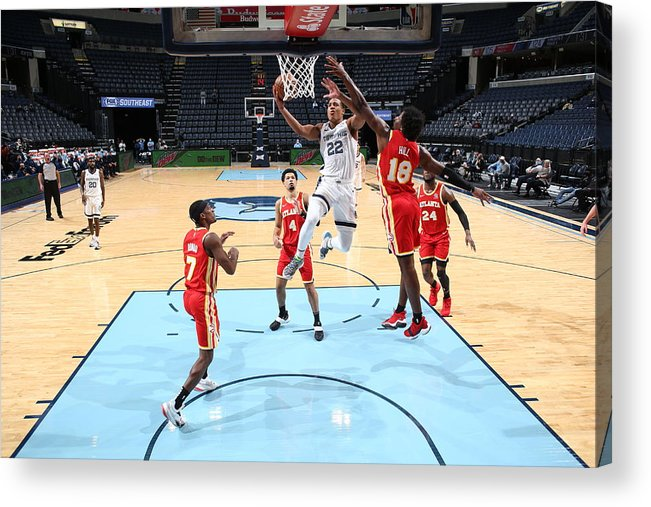 Nba Pro Basketball Acrylic Print featuring the photograph Atlanta Hawks v Memphis Grizzlies by Joe Murphy