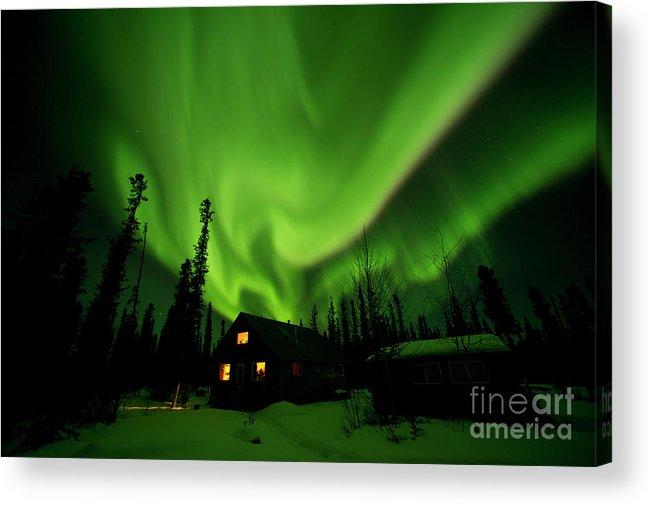 00551581 Acrylic Print featuring the photograph Aurora Borealis Alaska by Michael Quinton