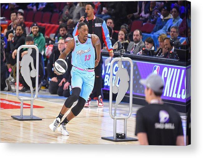 Nba Pro Basketball Acrylic Print featuring the photograph Bam Adebayo by Bill Baptist