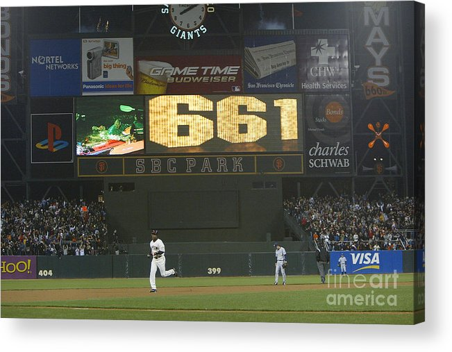 San Francisco Acrylic Print featuring the photograph Barry Bonds by Justin Sullivan