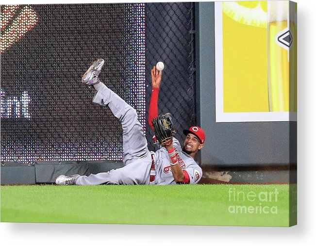 Ninth Inning Acrylic Print featuring the photograph Billy Hamilton by Brian Davidson