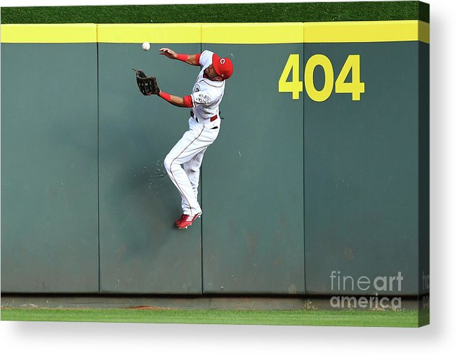 Great American Ball Park Acrylic Print featuring the photograph Billy Hamilton by Jamie Sabau
