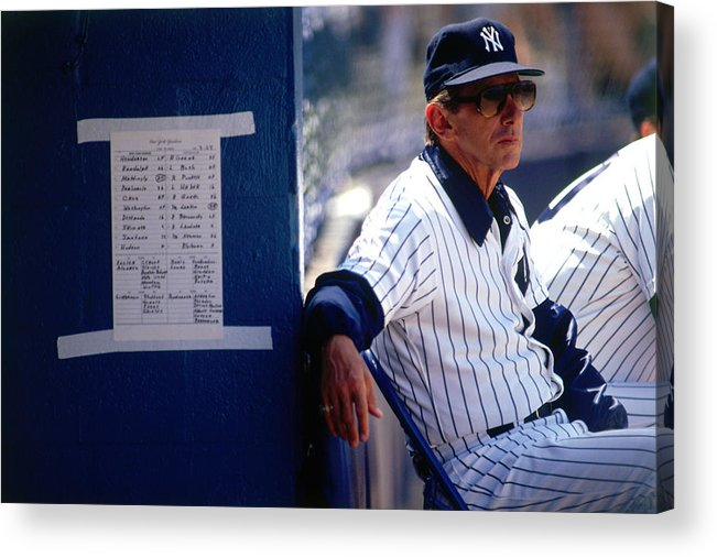 1980-1989 Acrylic Print featuring the photograph Billy Martin by Ronald C. Modra/sports Imagery
